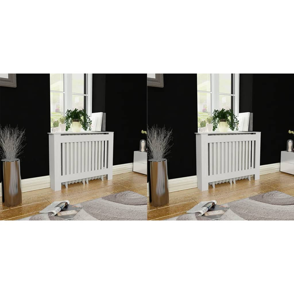 vidaXL Radiator Covers 2 pcs White MDF 112 cm from vidaXL