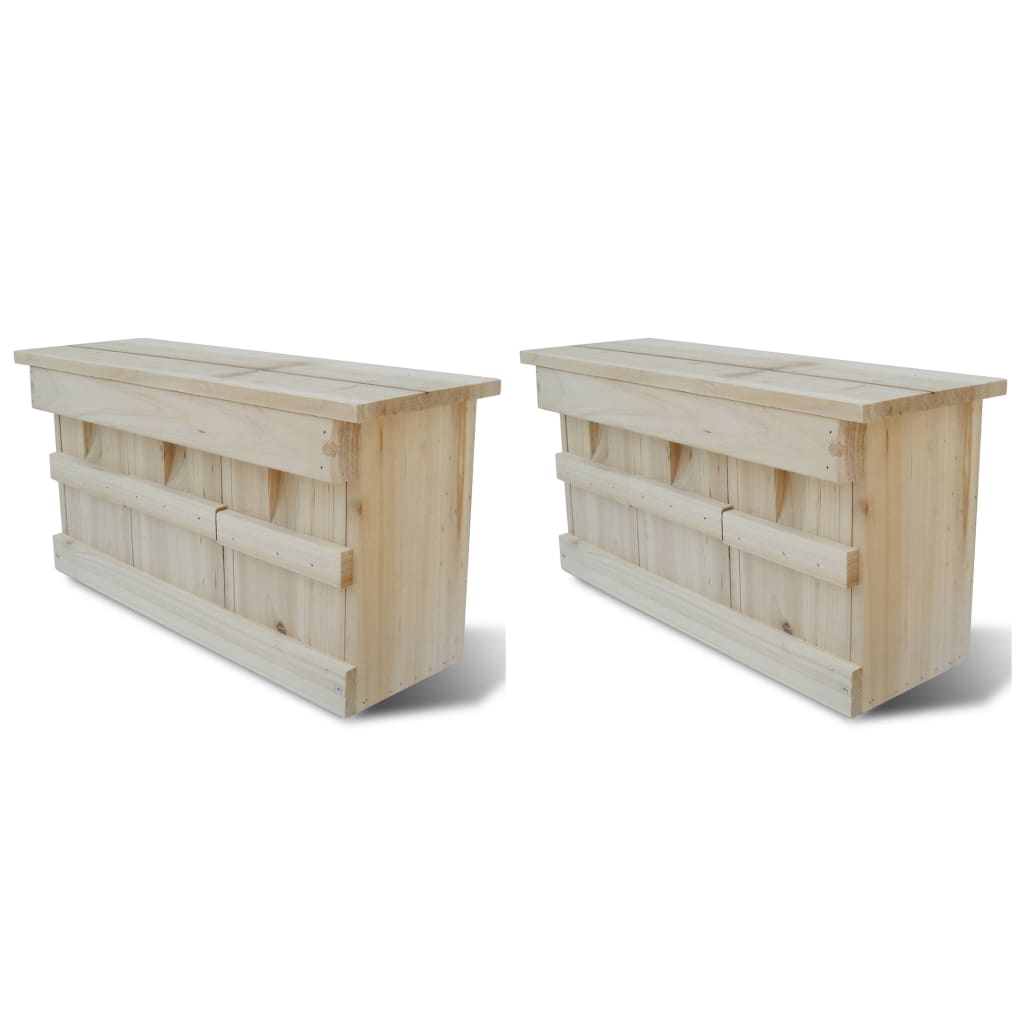 vidaXL Sparrow Houses 2 pcs Wood 44x15.5x21.5 cm from vidaXL