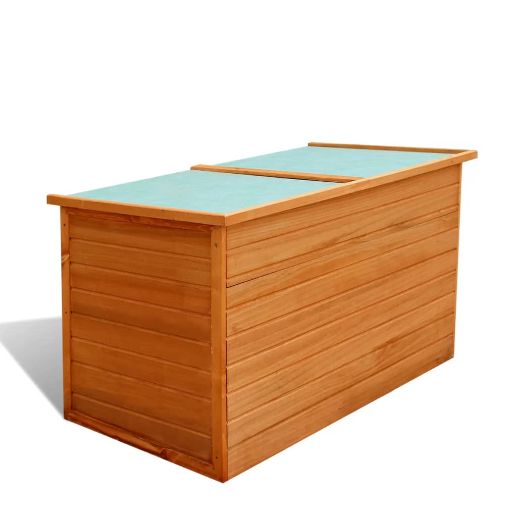 vidaXL Garden Storage Box 126x72x72 cm Wood from vidaXL