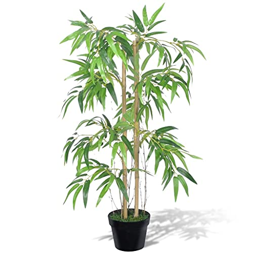 vidaXL Artificial Bamboo Plant Twiggy with Pot 90cm Fake Arrangement Home Decor from vidaXL
