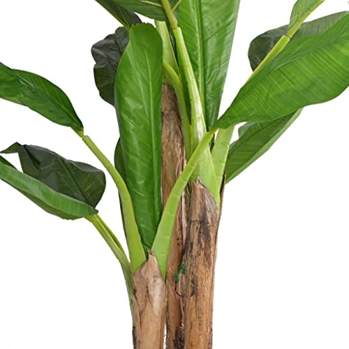 vidaXL Artificial Banana Tree Plant with Pot 175cm Green Fake Lifelike Indoor from vidaXL