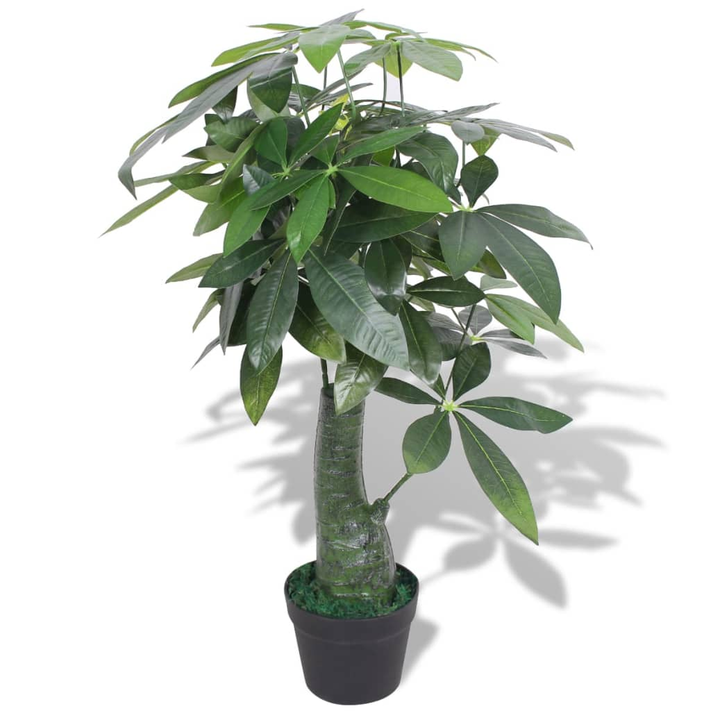 vidaXL Artificial Fortune Tree Plant with Pot 85 cm Green from vidaXL