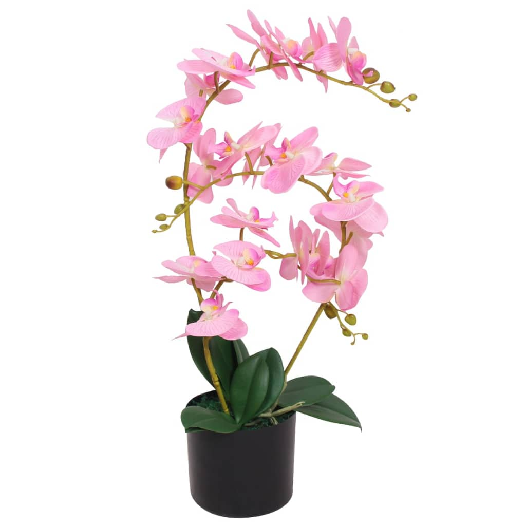 vidaXL Artificial Orchid Plant with Pot 65 cm Pink from vidaXL
