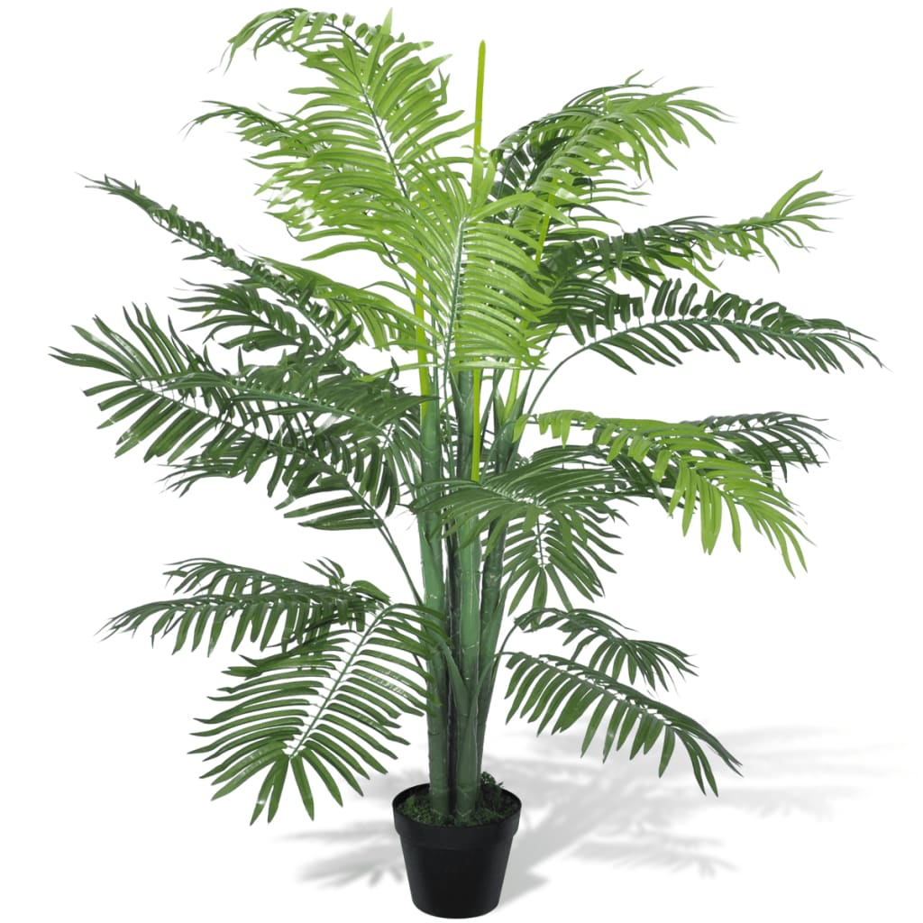 vidaXL Artificial Phoenix Palm Tree with Pot 130 cm from vidaXL
