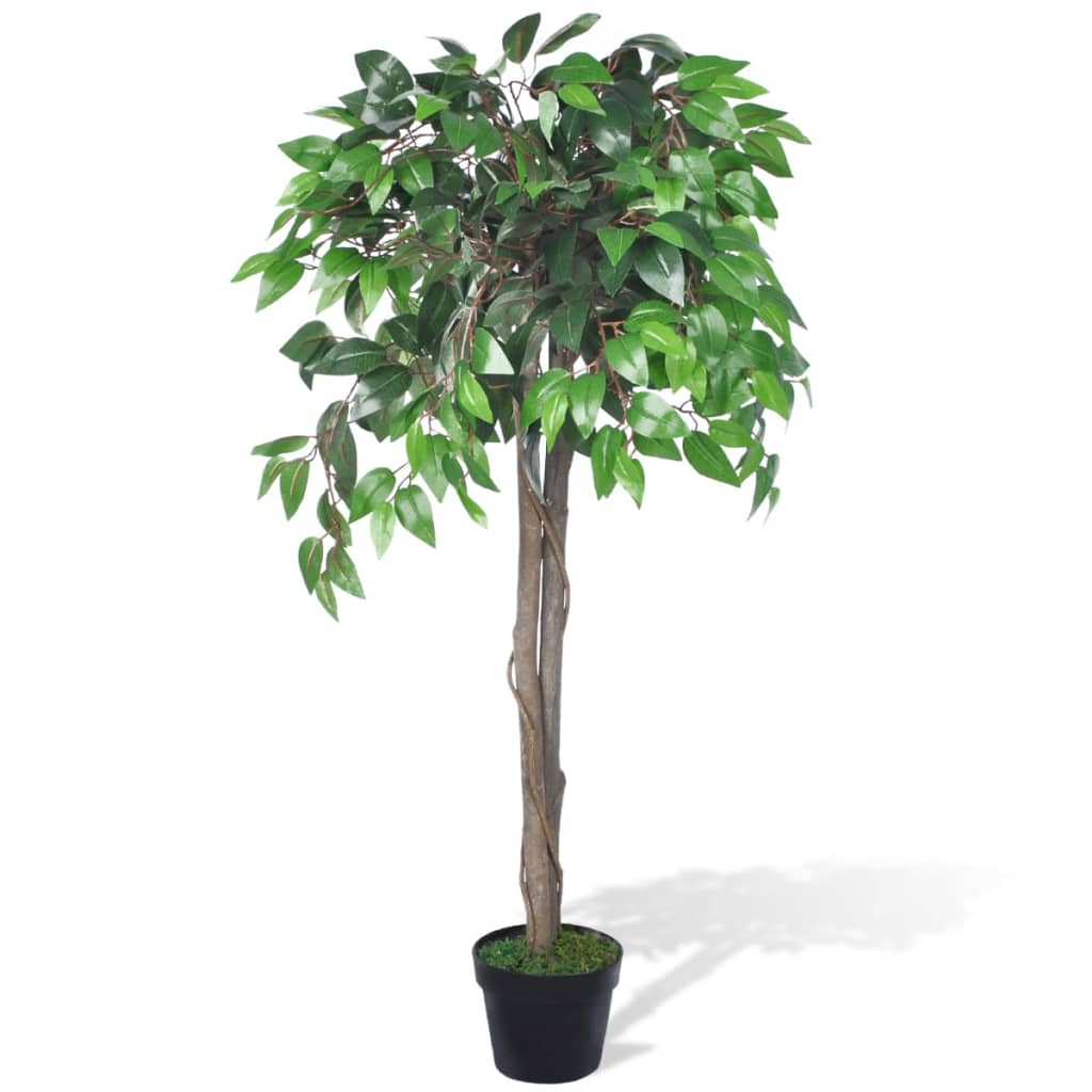 vidaXL Artificial Plant Ficus Tree with Pot 110 cm from vidaXL