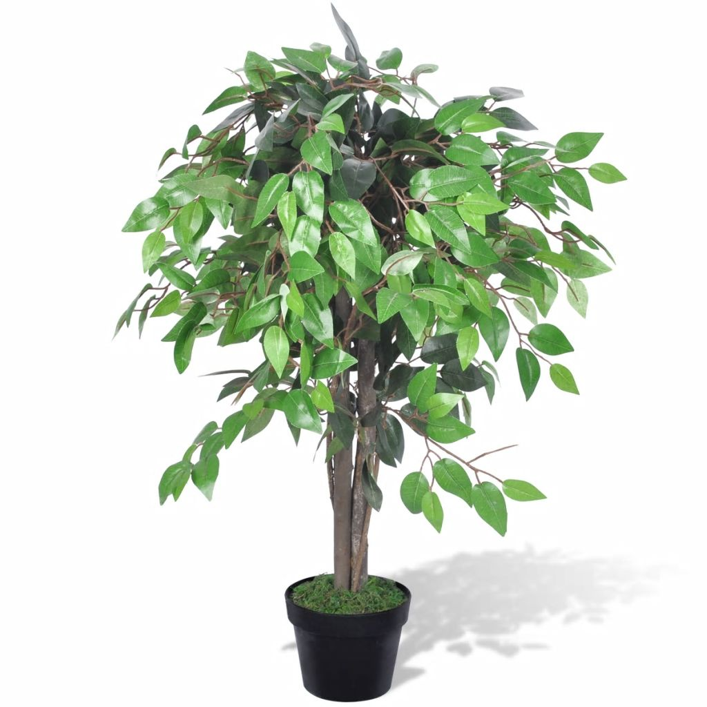 vidaXL Artificial Plant Ficus Tree with Pot 90 cm from vidaXL