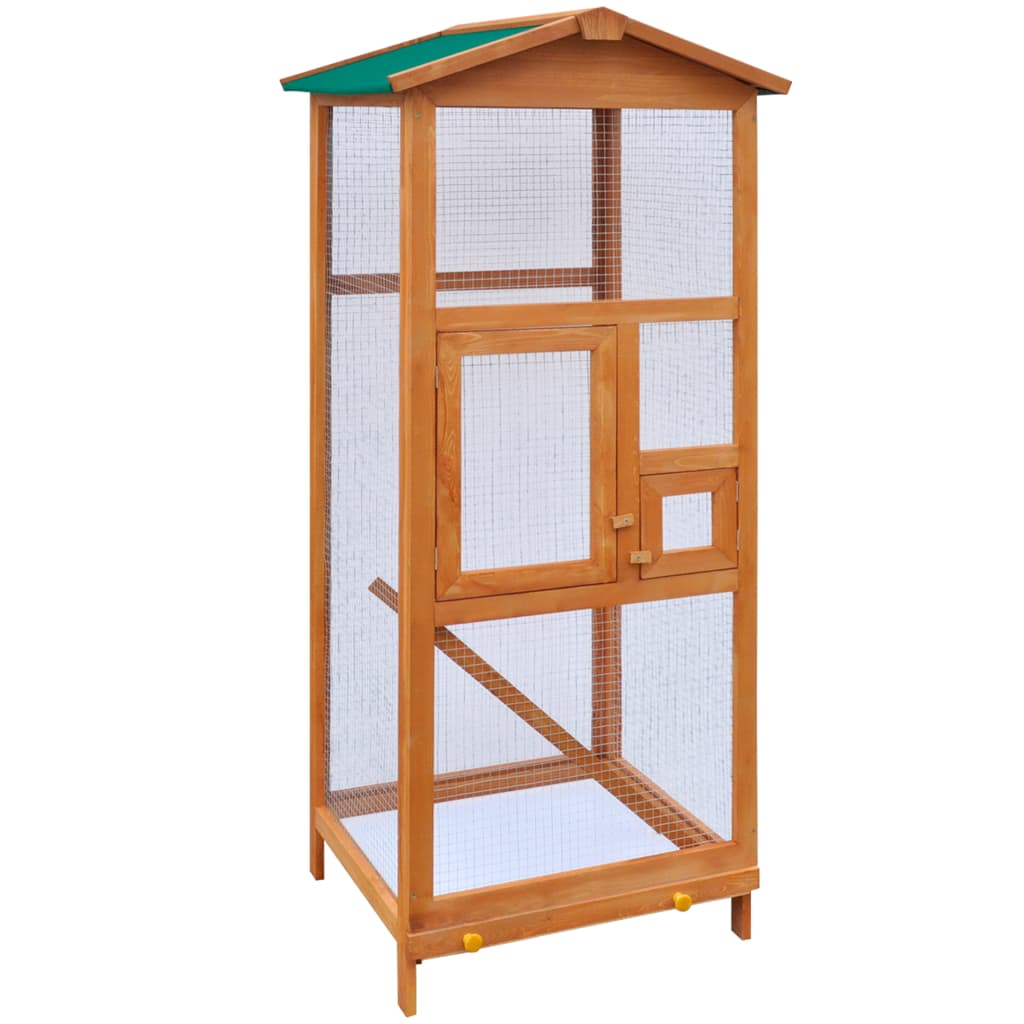 vidaXL Bird Cage Wood 65x63x165 cm from vidaXL