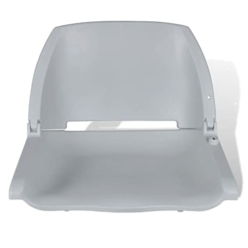 vidaXL Boat Seat Foldable Backrest no Pillow Grey 41x51x48cm Watercraft Part from vidaXL