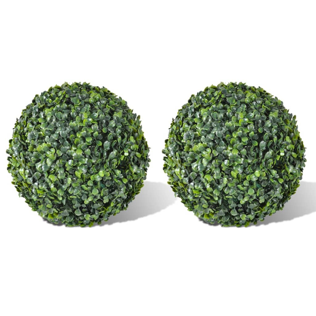 vidaXL Boxwood Ball Artificial Leaf Topiary Ball 35 cm 2 pcs from vidaXL
