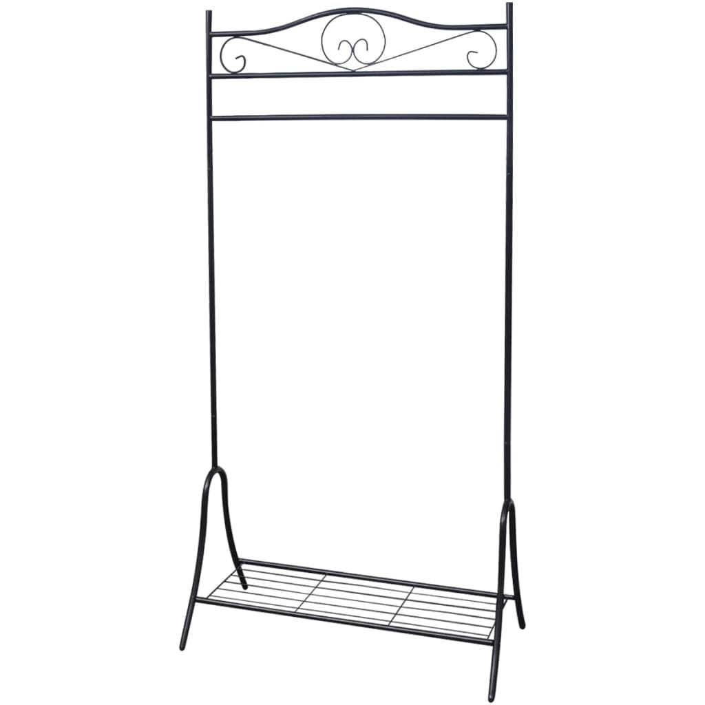 vidaXL Clothing Rack Black Steel from vidaXL