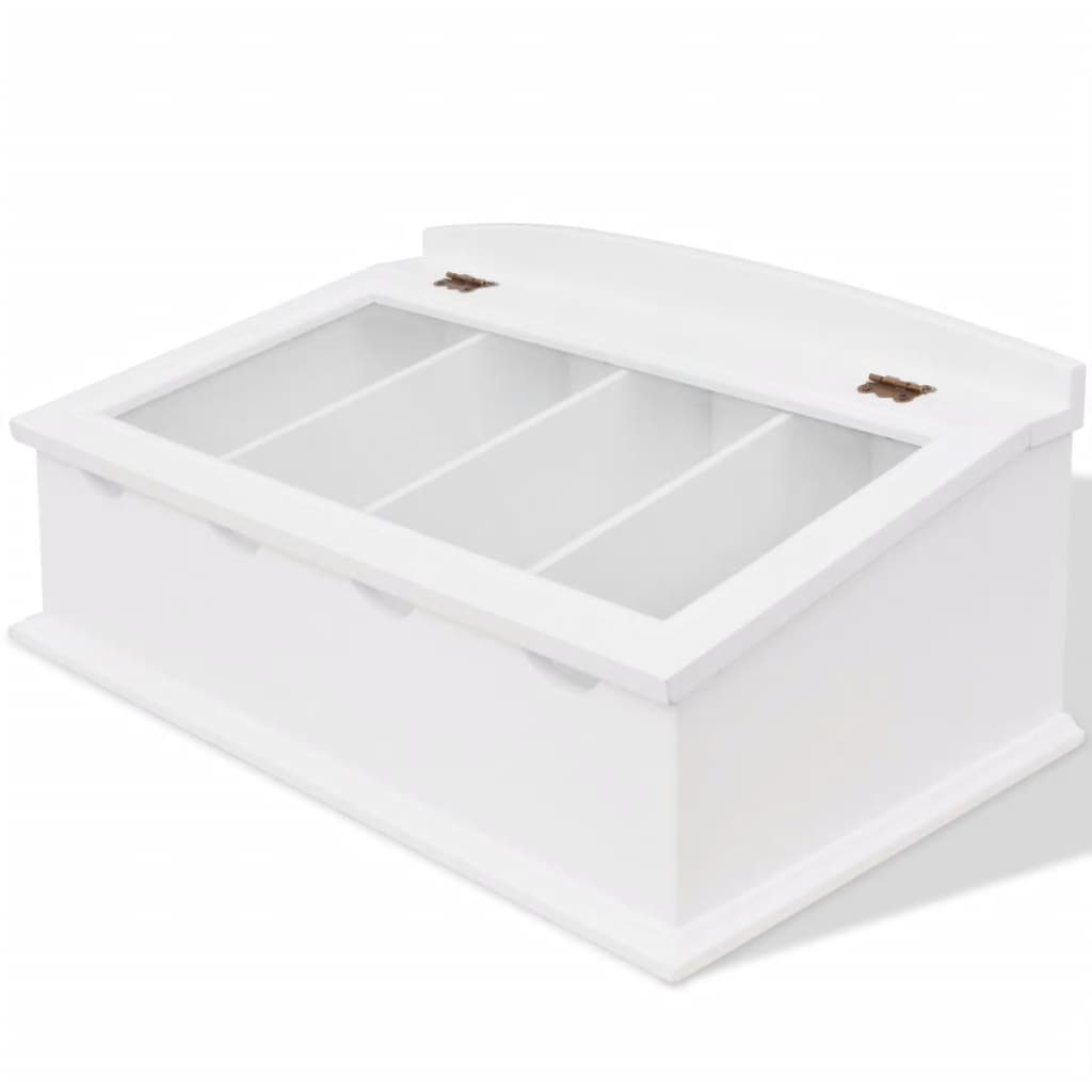 vidaXL Cutlery Tray MDF White Baroque Style from vidaXL