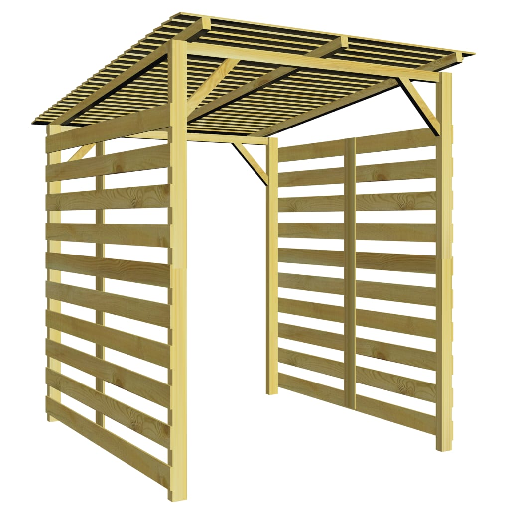 vidaXL Garden Firewood Storage Shed Impregnated Pinewood from vidaXL
