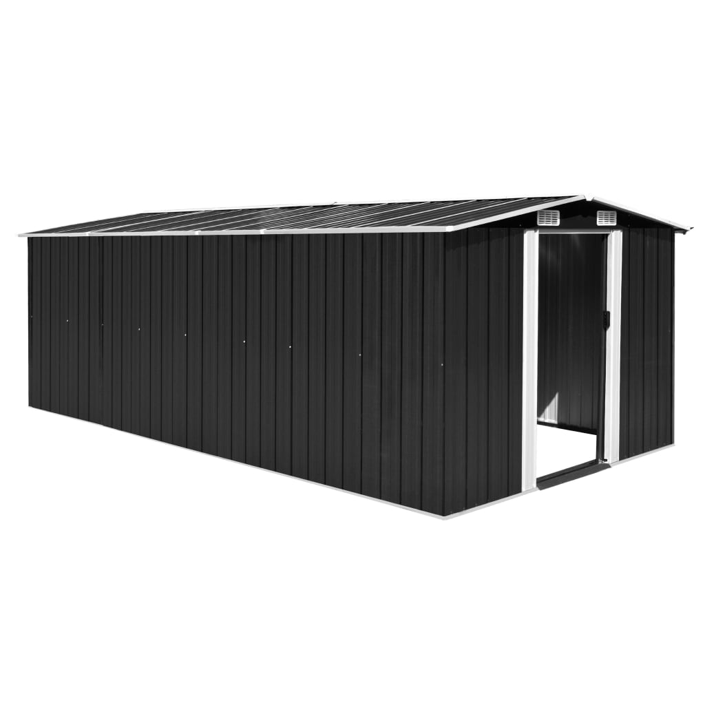 vidaXL Garden Shed 257x497x178 cm Metal Anthracite from vidaXL