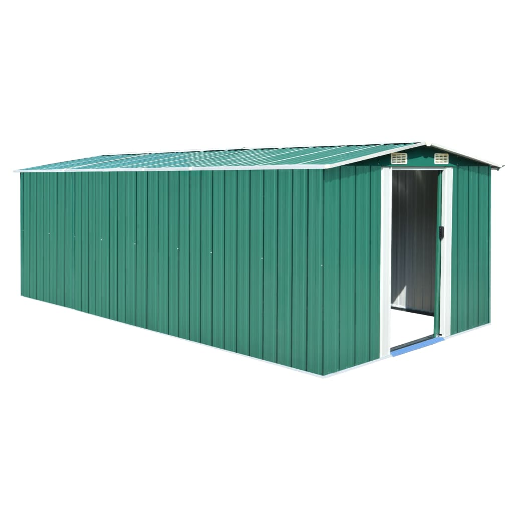 vidaXL Garden Shed 257x497x178 cm Metal Green from vidaXL