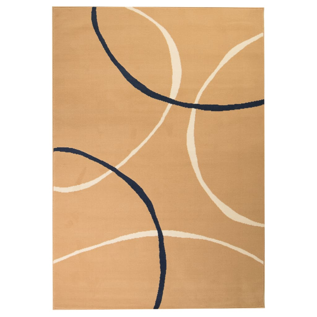 vidaXL Modern Rug Circle Design 120x170 cm Brown from vidaXL
