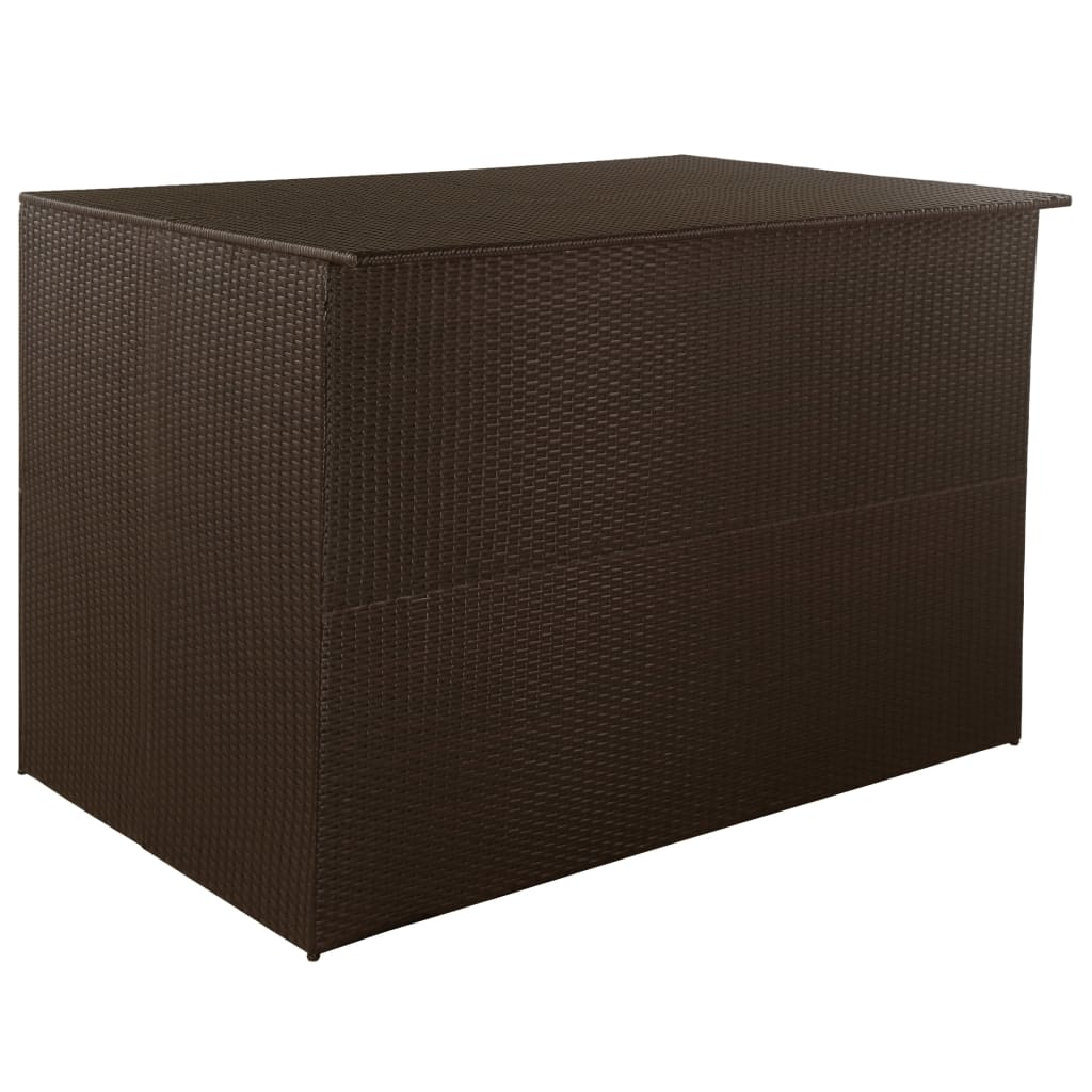 vidaXL Garden Storage Box Brown 150x100x100 cm Poly Rattan from vidaXL
