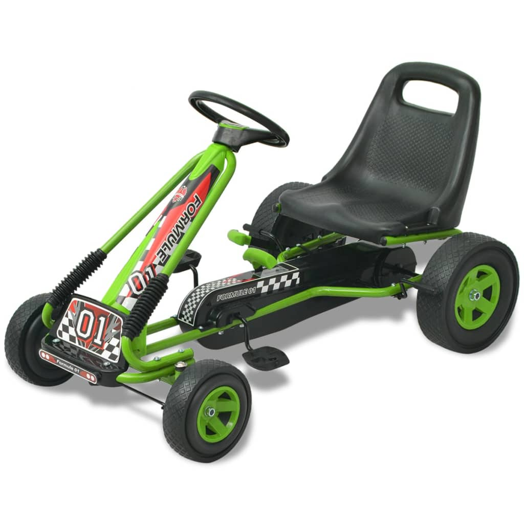 vidaXL Pedal Go Kart with Adjustable Seat Green from vidaXL