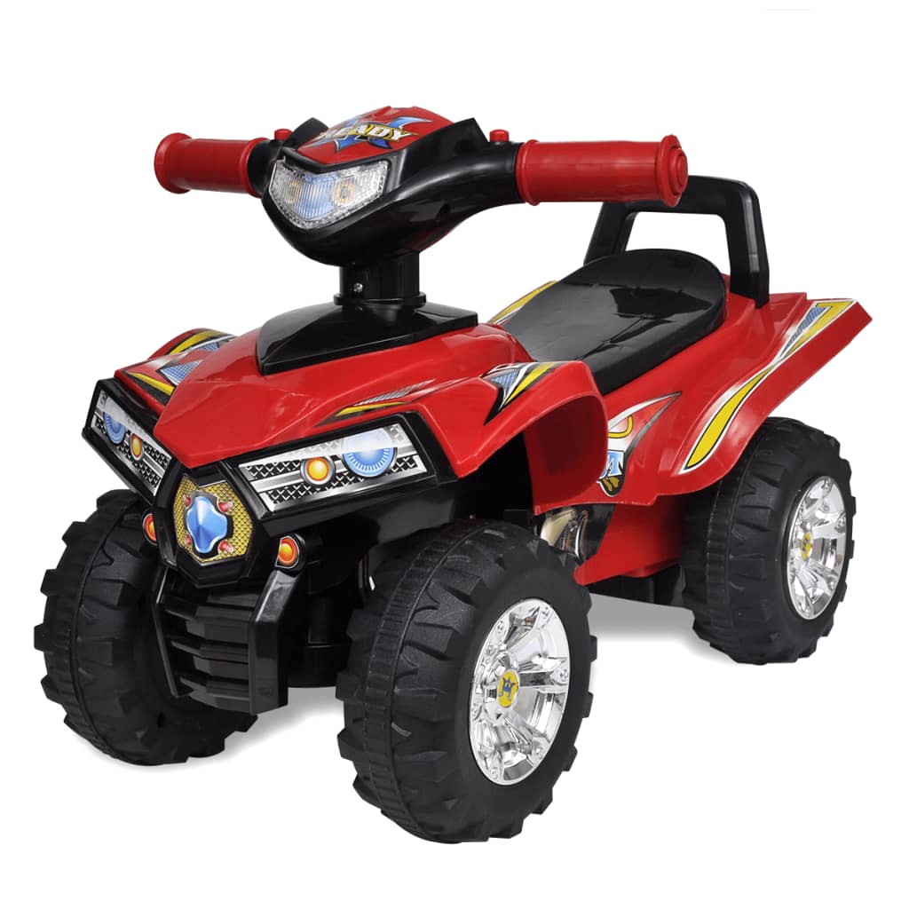 vidaXL Red Children's Ride-on Quad with Sound and Light from vidaXL