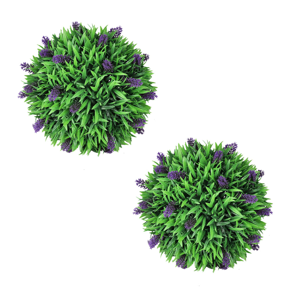 vidaXL Set of 2 Artificial Boxwood Ball with Lavender 30 cm from vidaXL