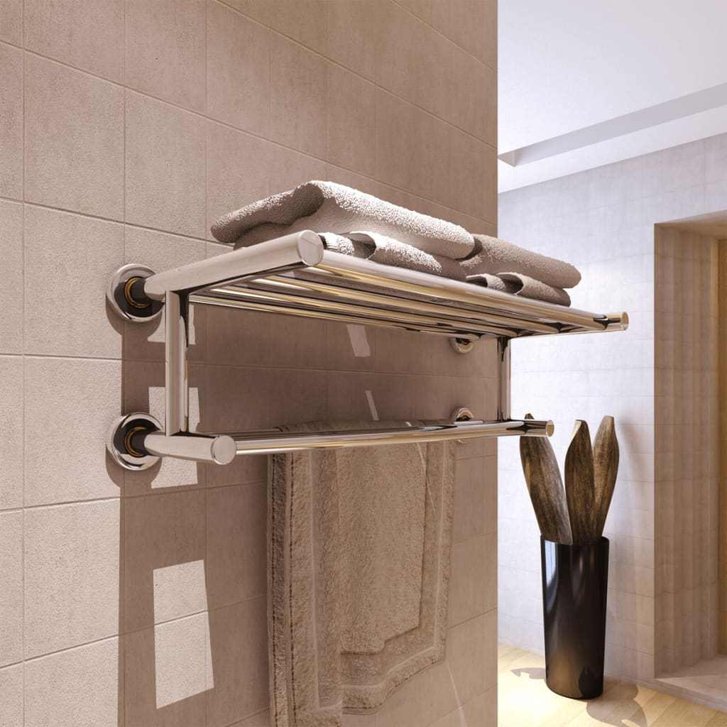 vidaXL Stainless Steel Towel Rack 6 Tubes from vidaXL