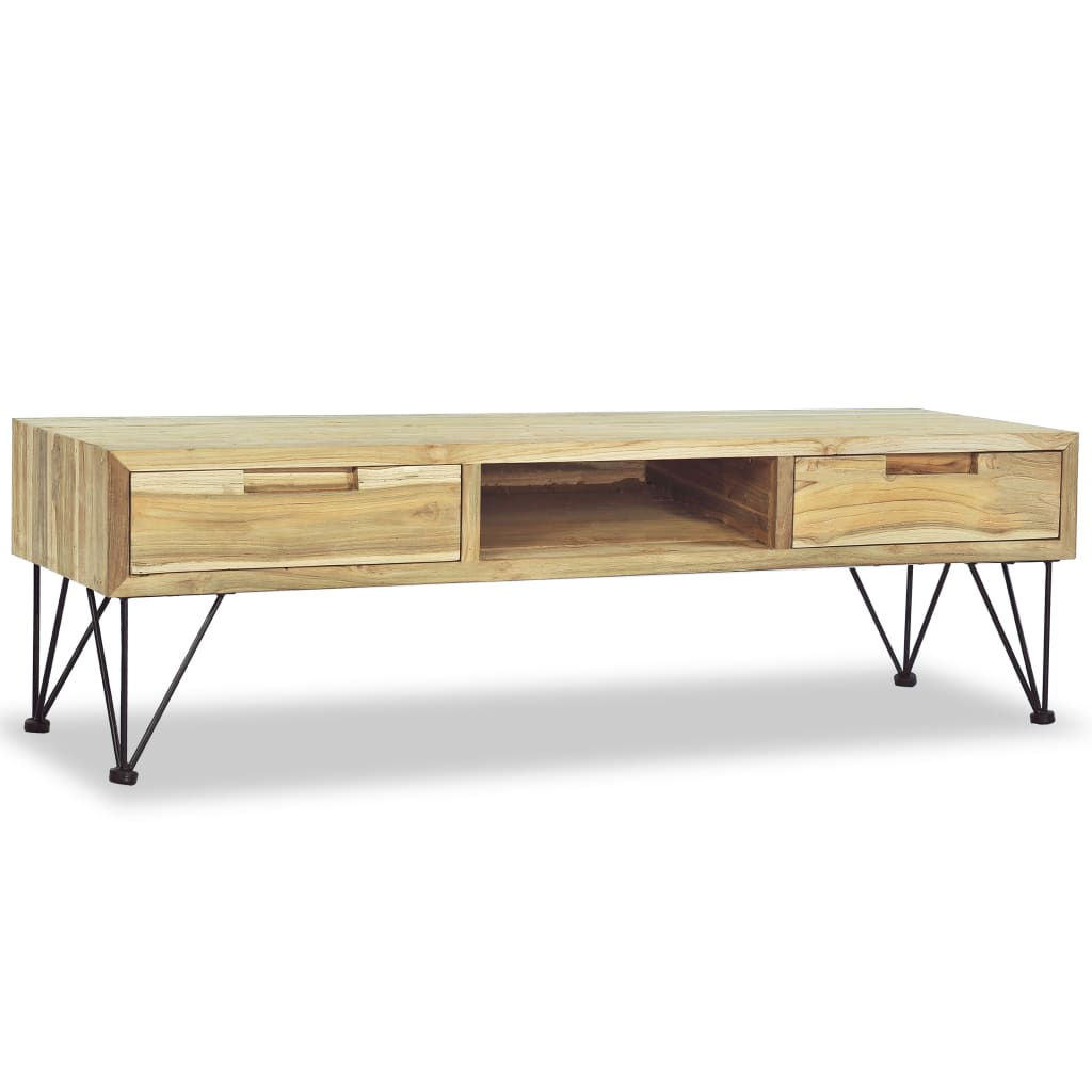 vidaXL TV Cabinet 120x35x35 cm Solid Teak from vidaXL
