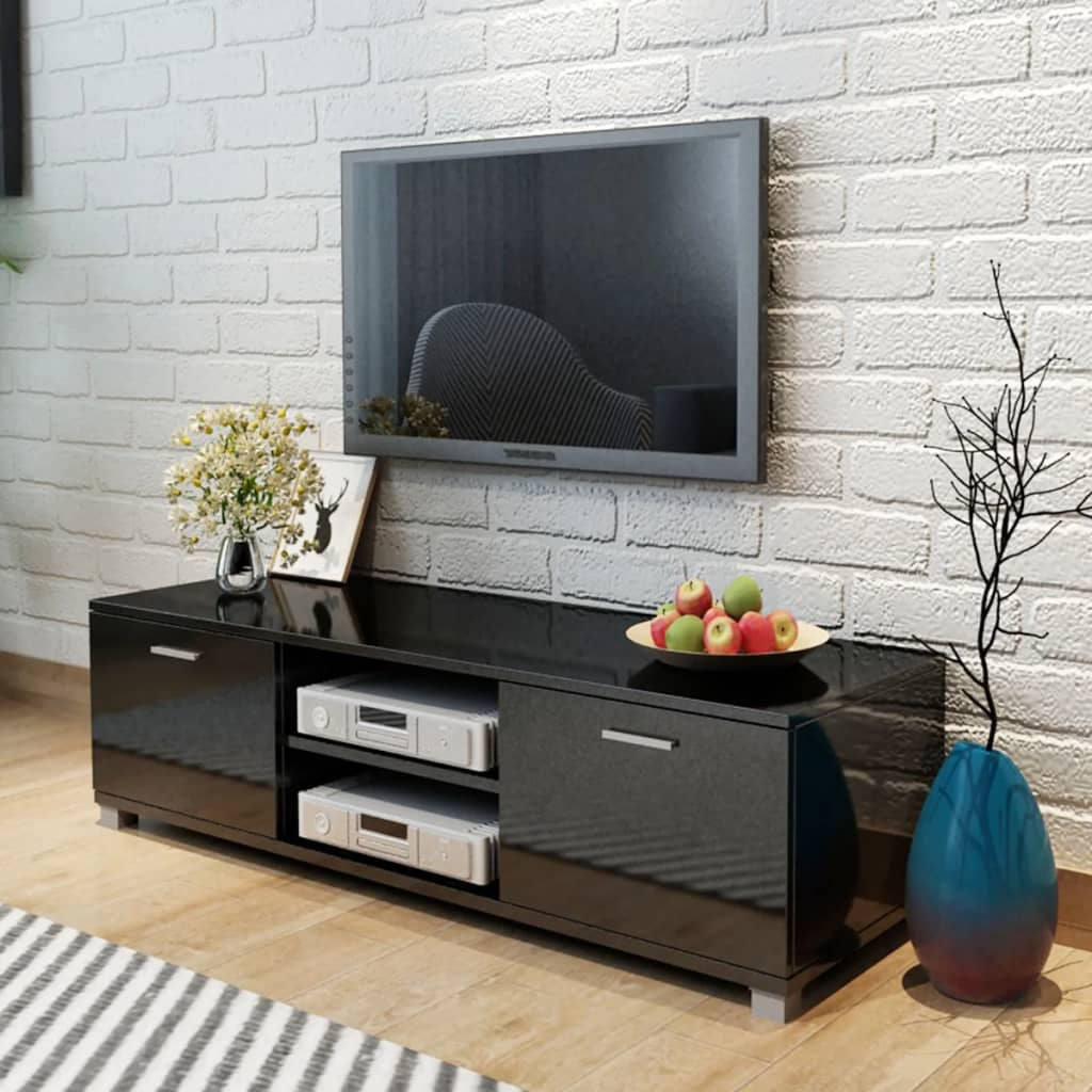vidaXL TV Cabinet High-Gloss Black 140x40.3x34.7 cm from vidaXL