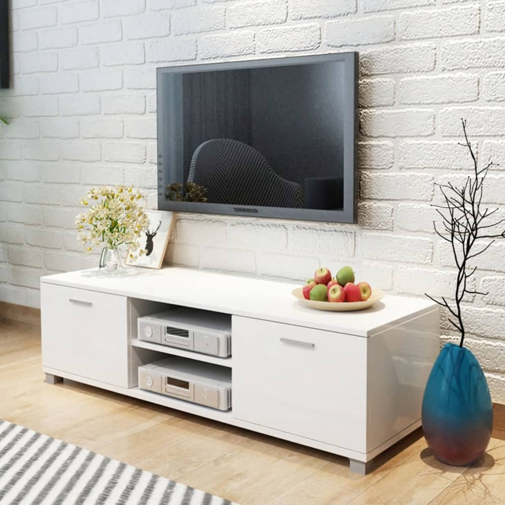 vidaXL TV Cabinet High-Gloss White 140x40.3x34.7 cm from vidaXL