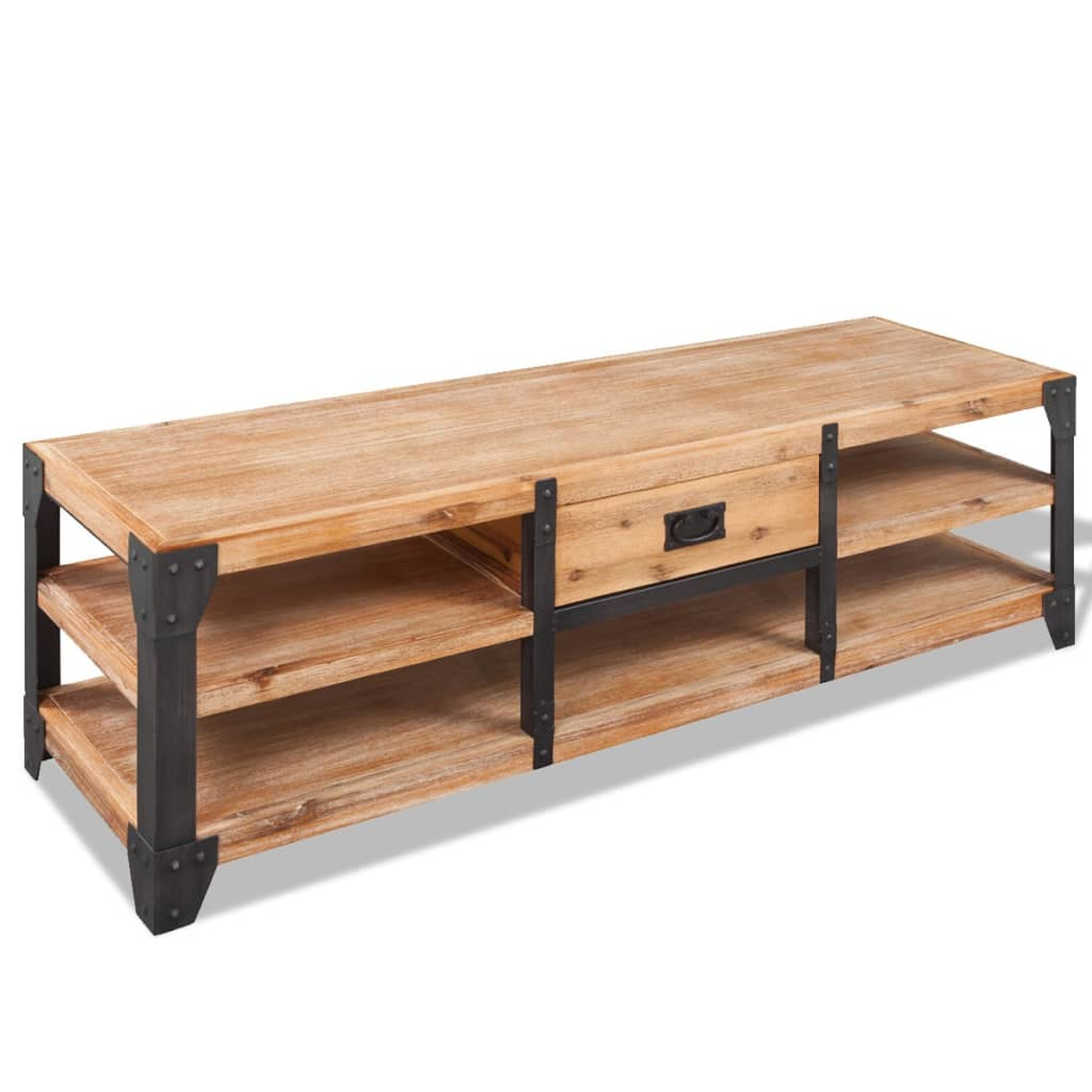 vidaXL TV Stand Solid Acacia Wood 140x40x45 cm from vidaXL