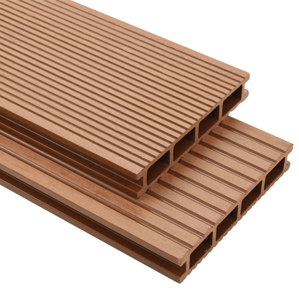 vidaXL WPC Decking Boards with Accessories 20 m² 2.2 m Brown from vidaXL
