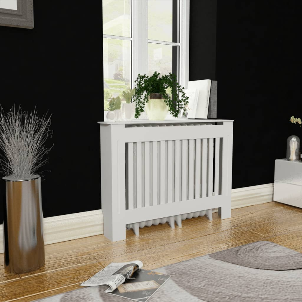 vidaXL White MDF Radiator Cover Heating Cabinet 112 cm from vidaXL