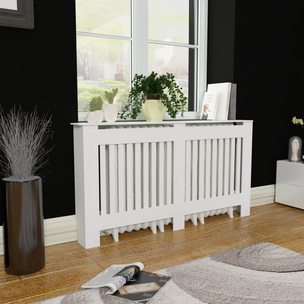 vidaXL White MDF Radiator Cover Heating Cabinet 152 cm from vidaXL