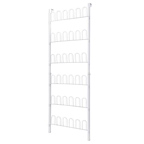 vidaXL Shoe Rack for 18 Pairs of Shoes White Steel Storage Organiser Shelf from vidaXL