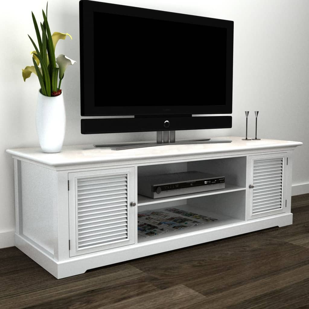 vidaXL White Wooden TV Stand from vidaXL