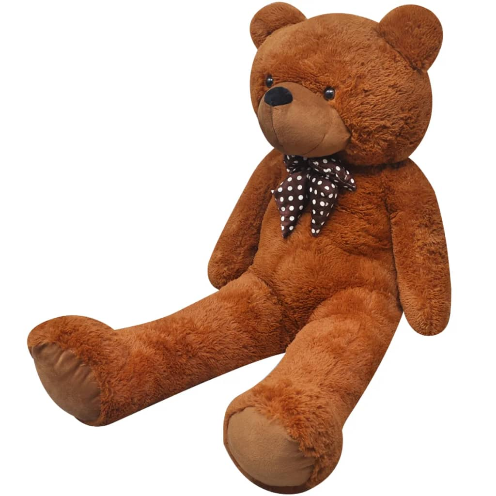 vidaXL XXL Soft Plush Teddy Bear Toy Brown 160 cm from vidaXL