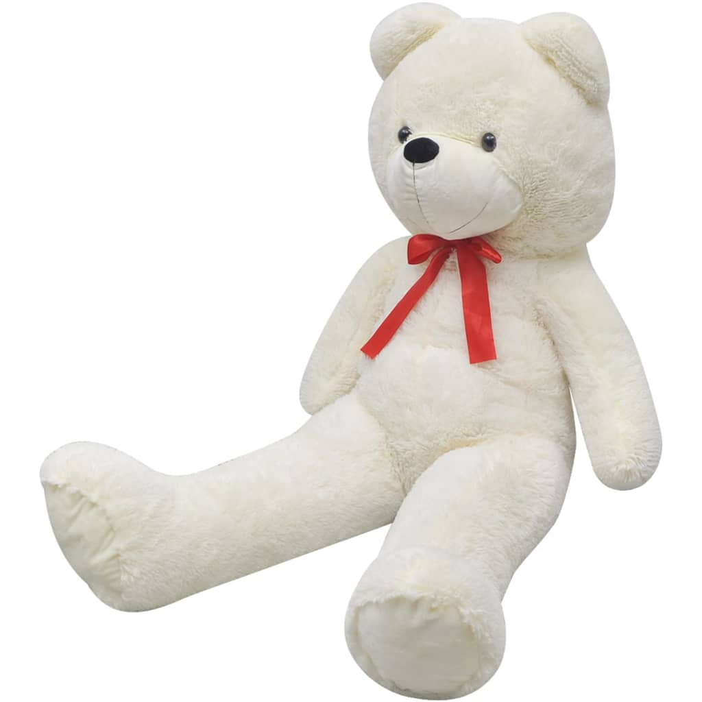 vidaXL XXL Soft Plush Teddy Bear Toy White 85 cm from vidaXL
