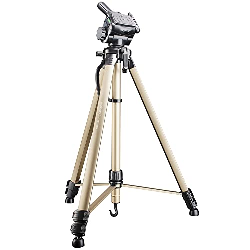 Walimex WT-3570 Basic tripod with 3D panhead, 165 cm (max. load-bearing capacity 4 kg, incl. two spirit levels, carry bag) from walimex