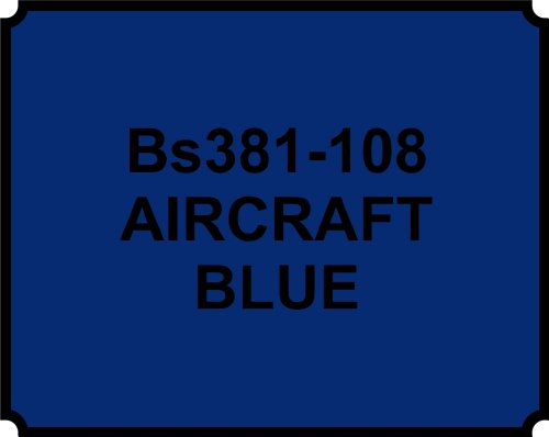 wlw BS381-108 AIRCRAFT BLUE PAINT - HEAT RESISTANT - 400ML AEROSOL SPRAY PAINT CAN GLOSS from wlw