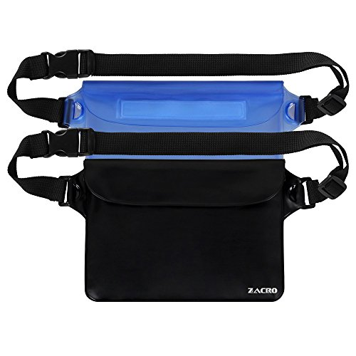 Zacro Universal Waterproof Pouch with Waist Strap (2 Pack) from zacro