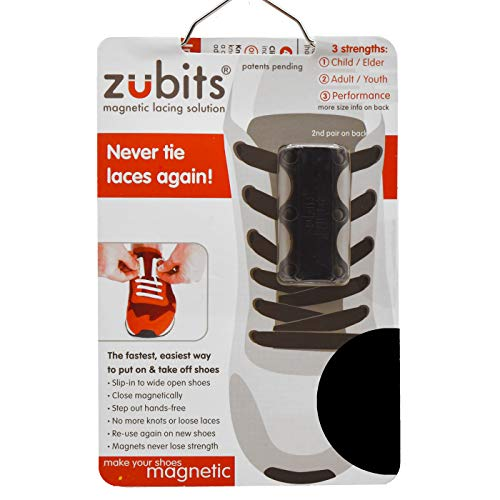 Zubits Magnetic Shoe Closures Unisex 'Never Tie Laces Again' - Sizes 1, 2 & 3 in 12 different colors! ORIGINAL 2.0! from zubits
